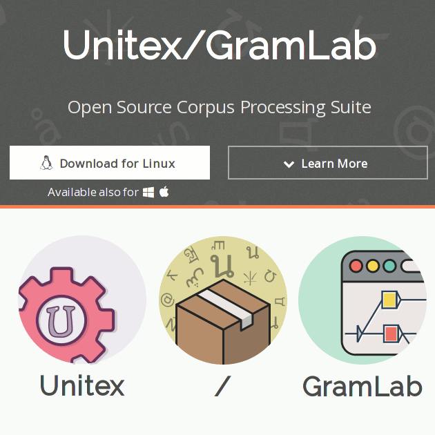 Unitex/GramLab | Open Source Corpus Processing Suite