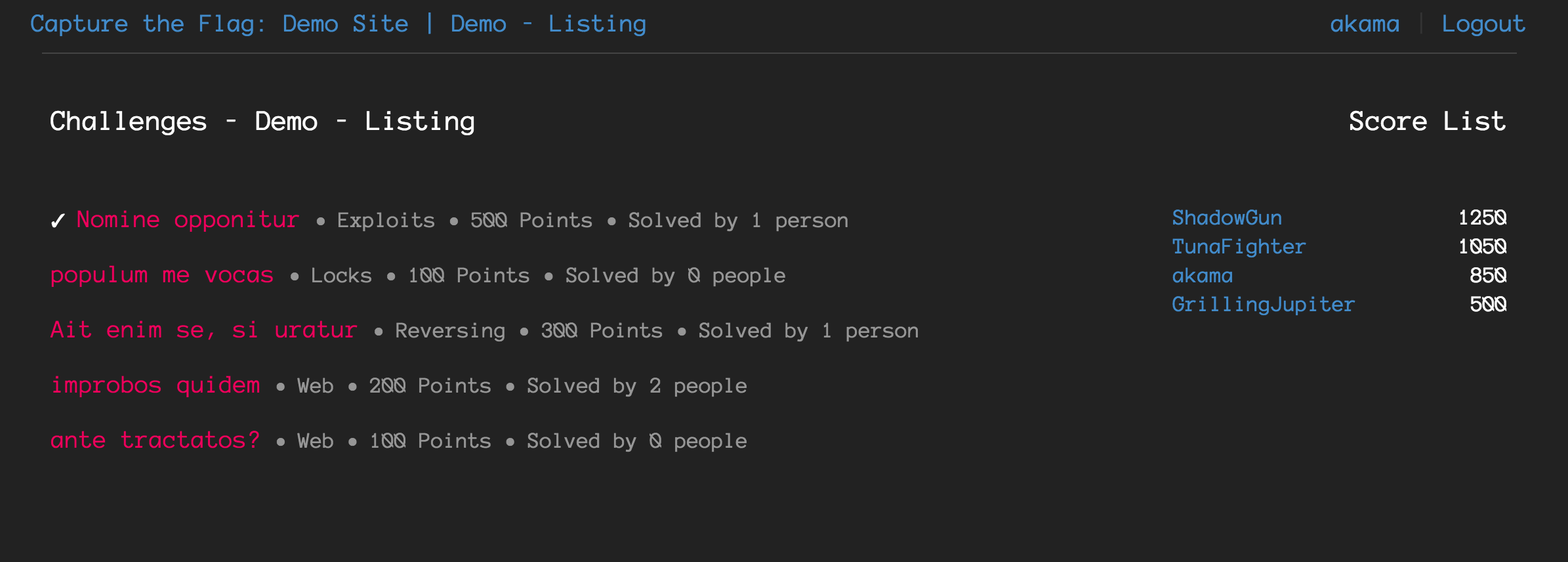 Listing Style CTF