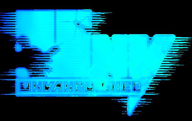 fuzzy blue logo