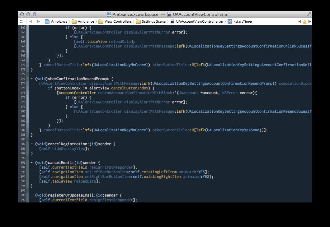Urban Xcode Screenshot