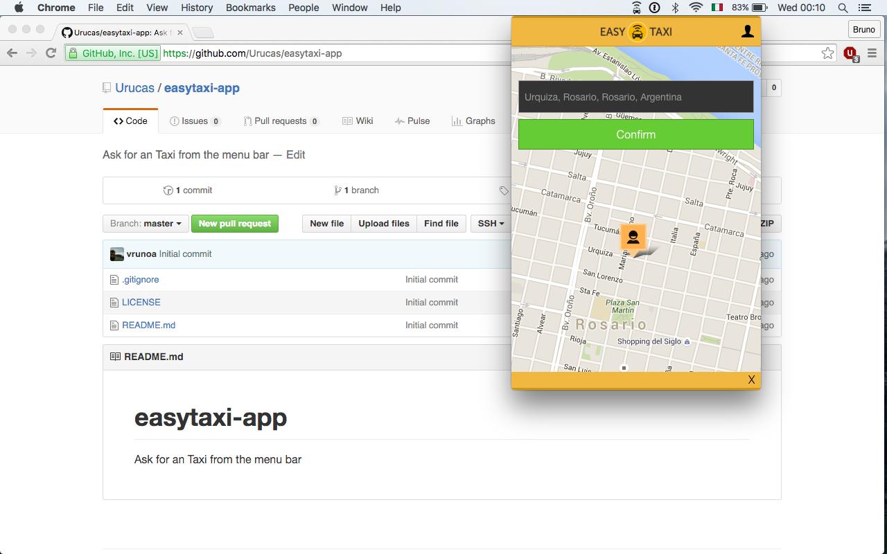 GitHub - Urucas/easytaxi-app: Ask for an Taxi from the menu bar