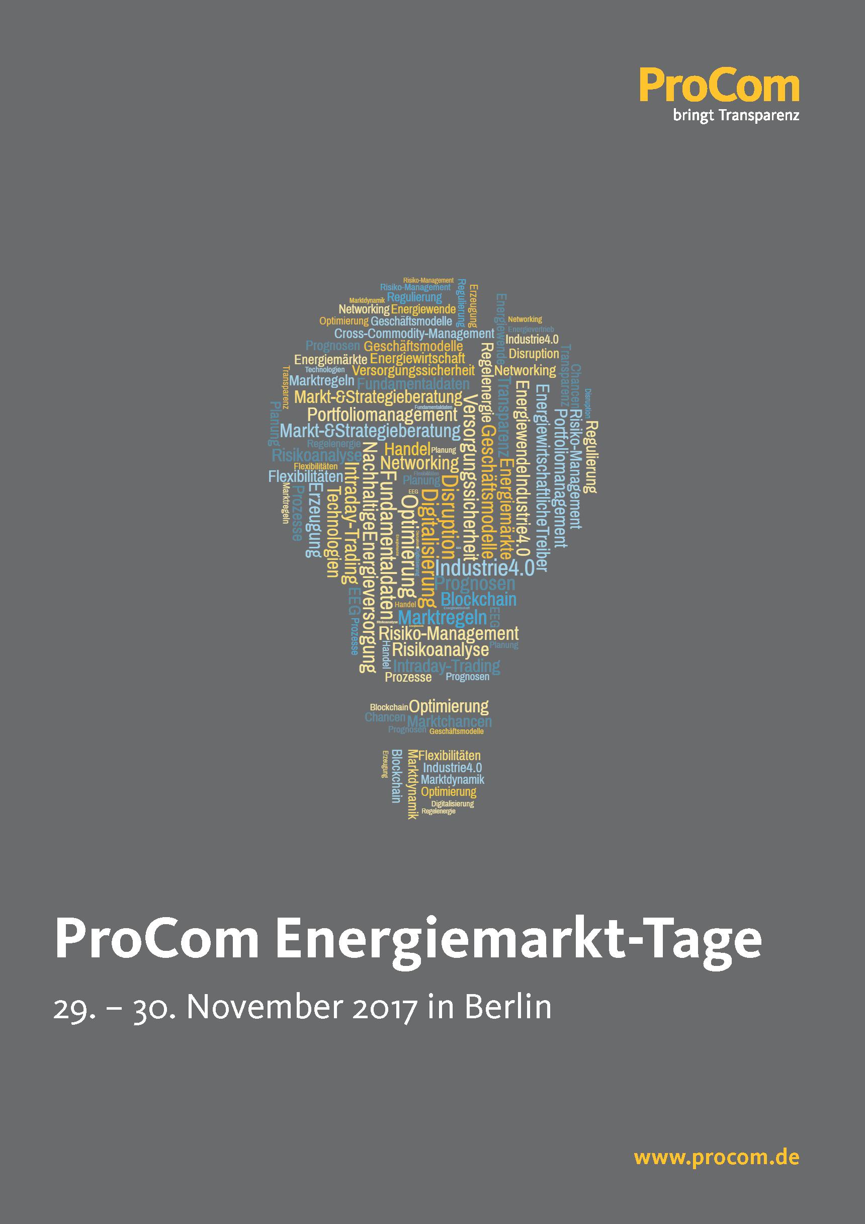 Procom Energiemarkttage
