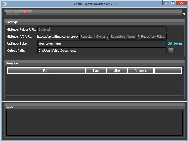 GitHub Folder Downloader
