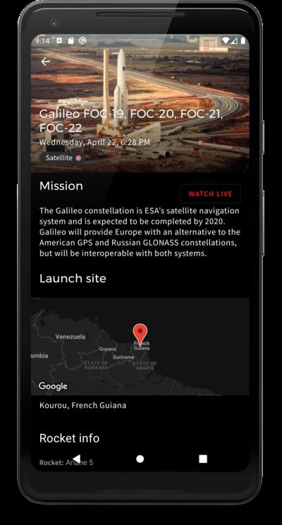 Launch detail