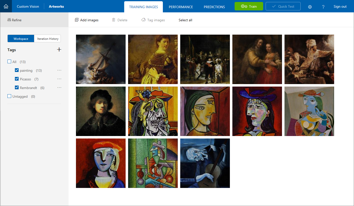 Picasso and Rembrandt images