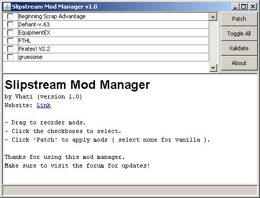 Slipstream Mod Manager v1 9 1 (2018-01-07) - Subset Games Forum