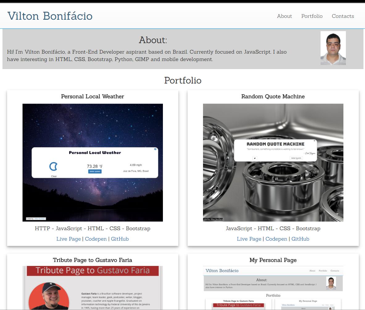 Vilton Bonifácio - Web Developer