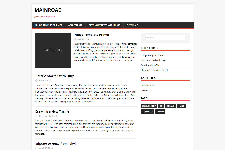 Mainroad | Hugo Themes