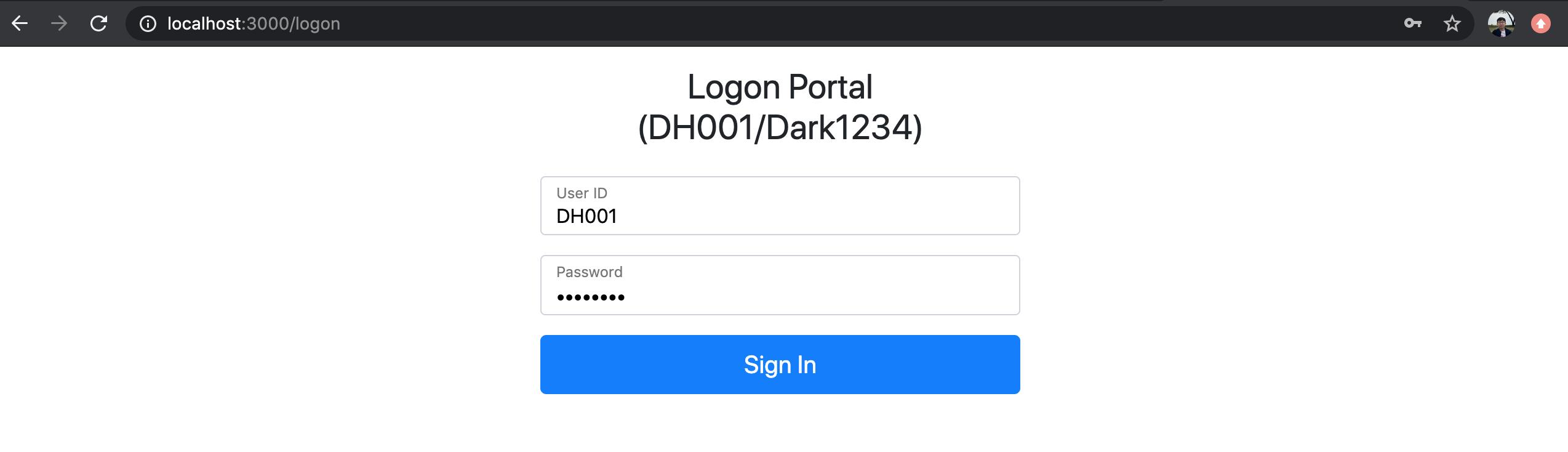 Logon Page