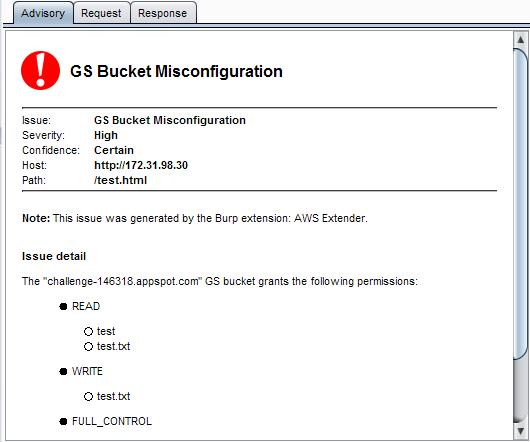 GS Bucket Misconfiguration