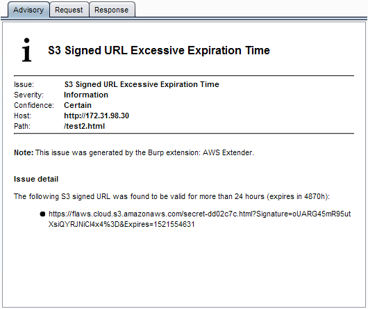 S3 Signed URL Excessive Expiration Time