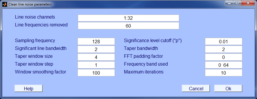 PREP line noise menu