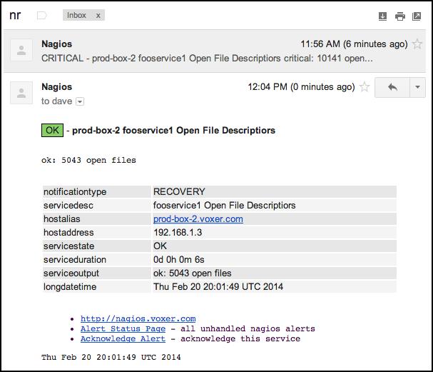 Nagios html email npm service recovery threaded host recovery maxwellsz