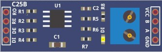 RS485 (MAX3485 chip) fritzing part