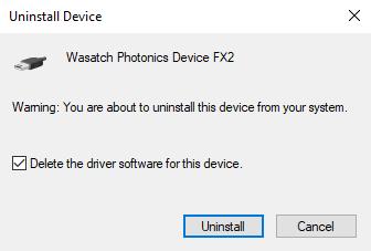 Delete the driver software