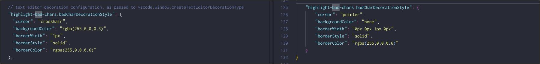 highlight-bad-chars-configuration