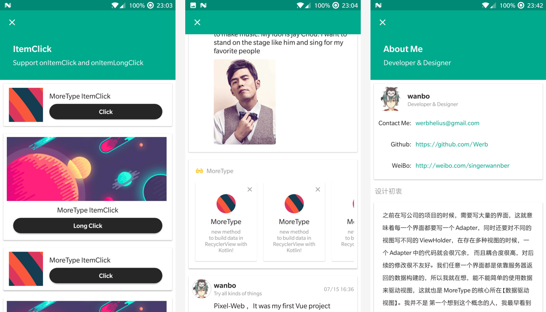 MoreType - new method to build data in Recycler    - 简书