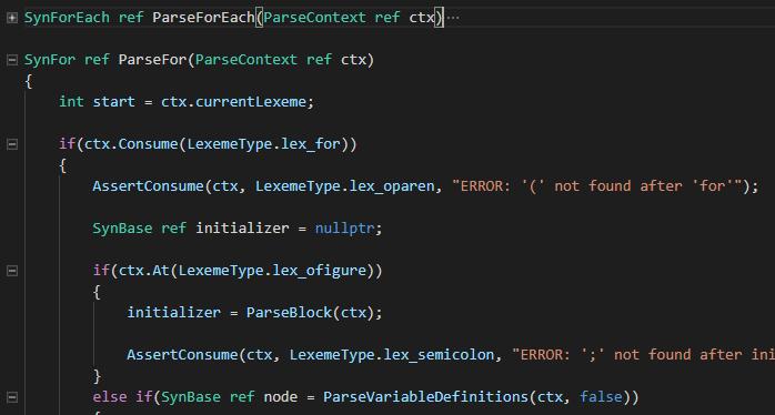 Code Folding Example