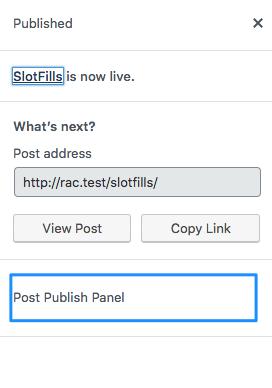 post publish panel