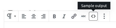 Toolbar with custom button