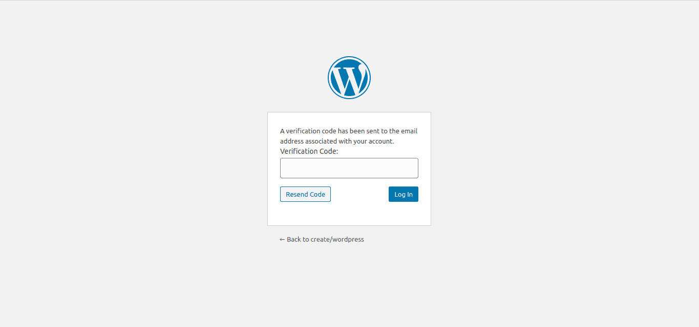 Email Code Authentication during WordPress Login.