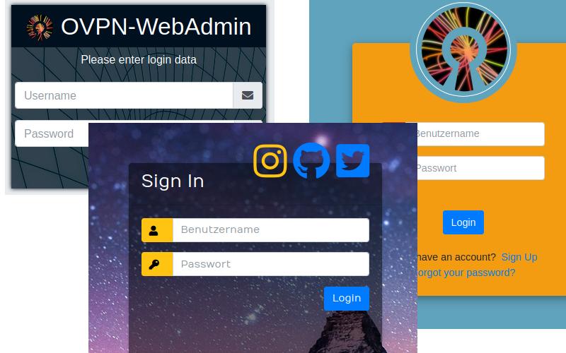 Previsualisation Login OpenVPN-WebAdmin
