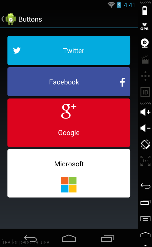 how to add an image on a button android
