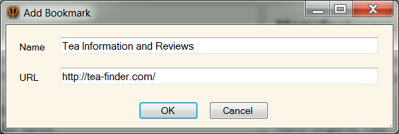 The Bookmark Add Dialog