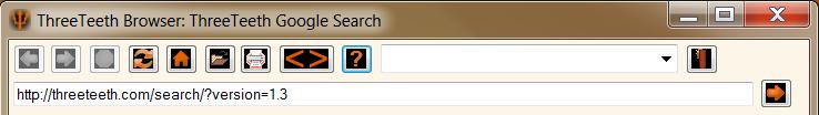 Main Navigation Toolbar for the ThreeTeeth Browser