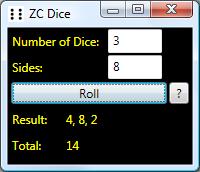 ZC Dice Screenshot