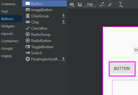 Add a button to an Activity with Android Studio