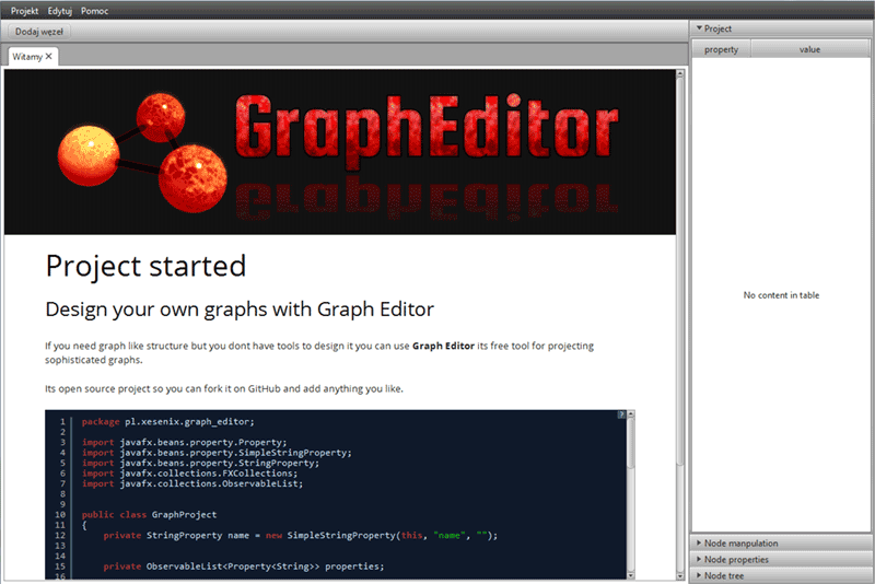 alt GraphEditor user interface screen