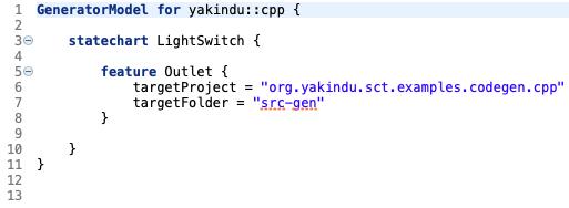 Simple C++ generator model