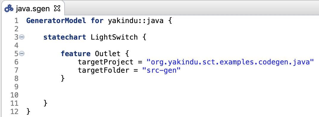 Simple Java generator model