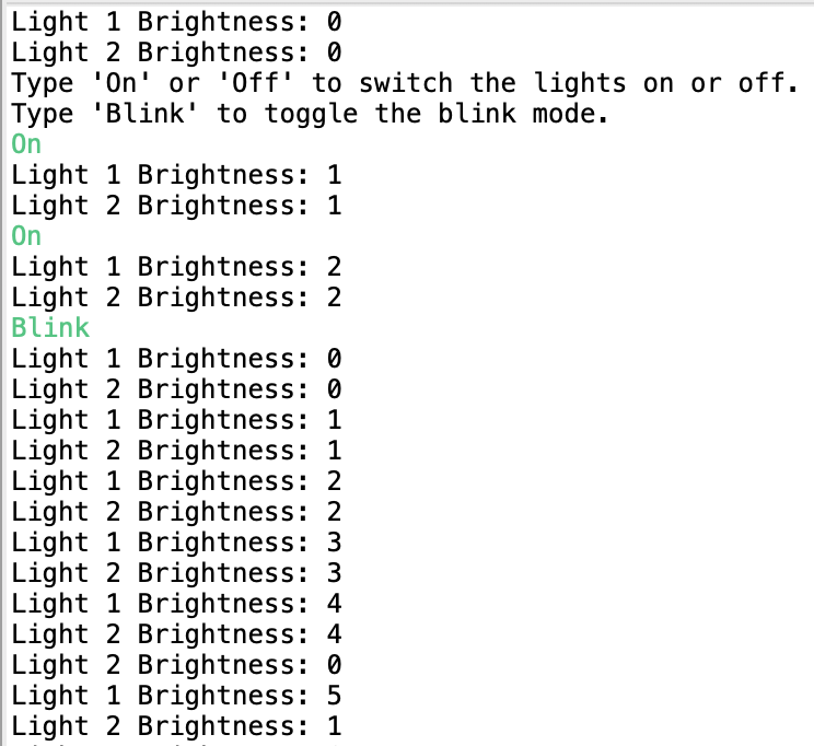 Light switch console application