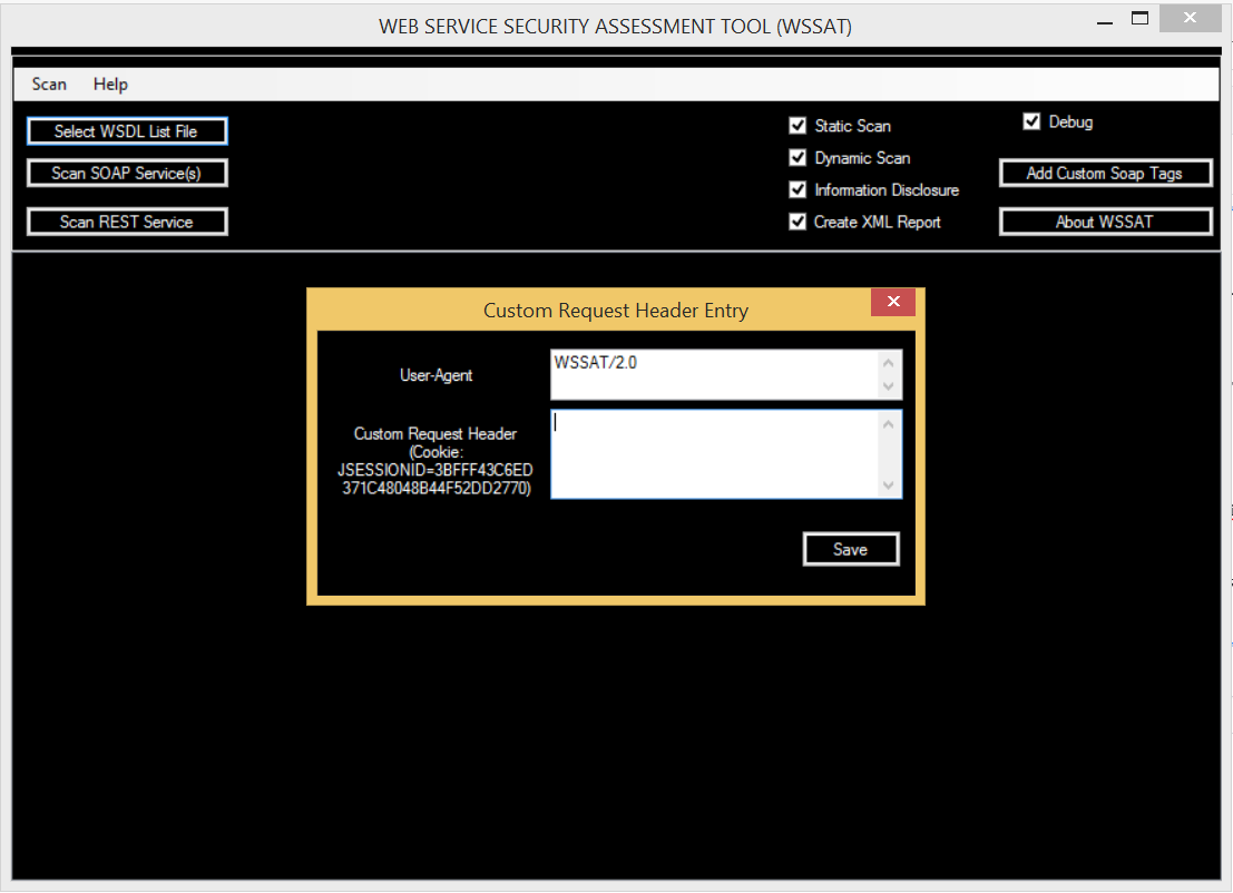 WSSAT - Add Custom Request Header