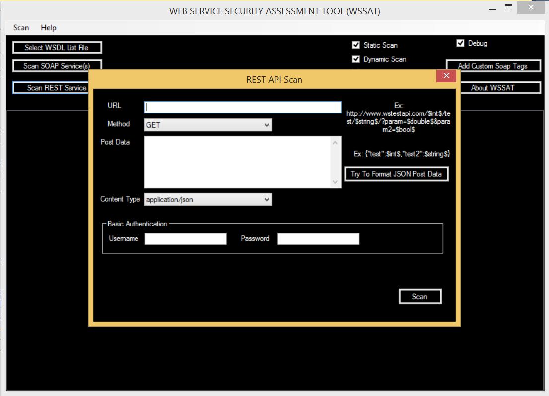 WSSAT - Rest API Scan