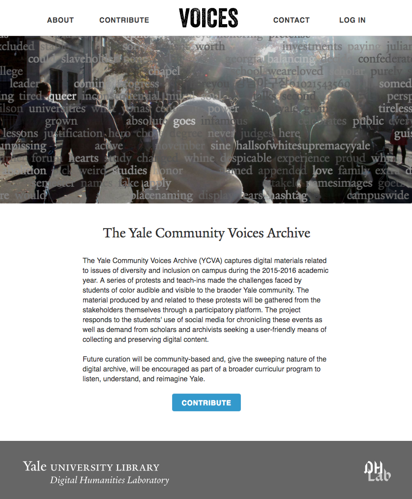 Yale Voices Homepage