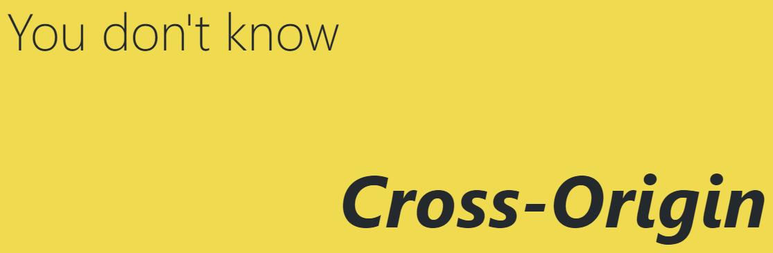 cross-origin