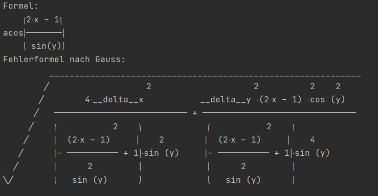 Result of the '.show_error' method
