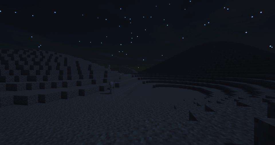 Rolling gravel hills