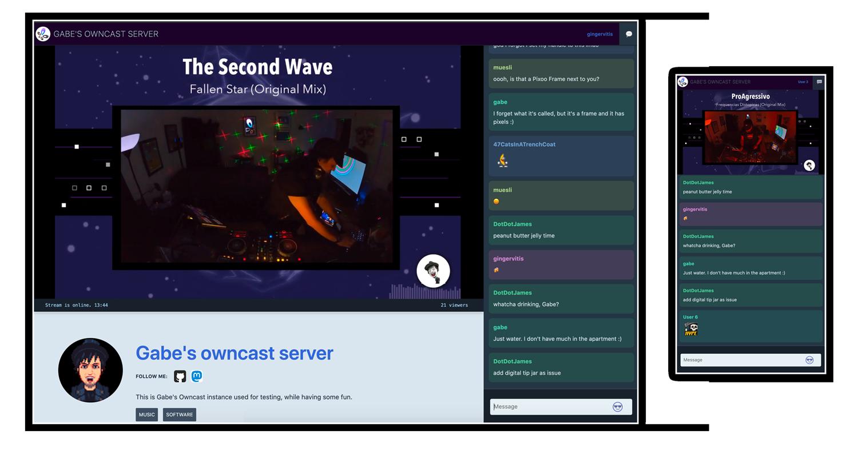 Image page d'accueil de OwnCast