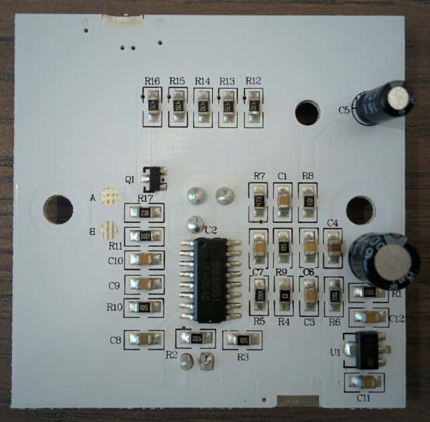 Bottom of the Molgan PCB