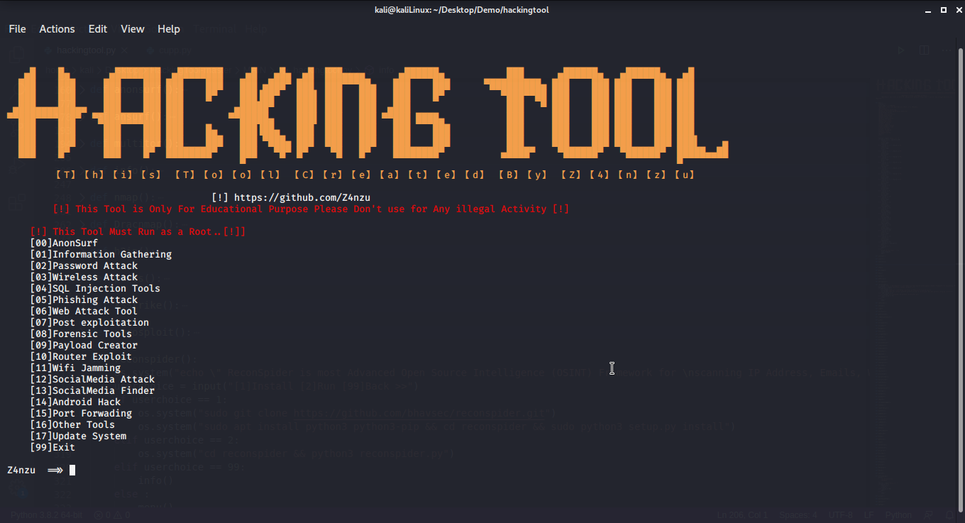 ALL IN ONE Hacking Tool