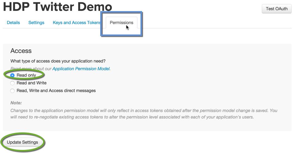 Changing App Permission