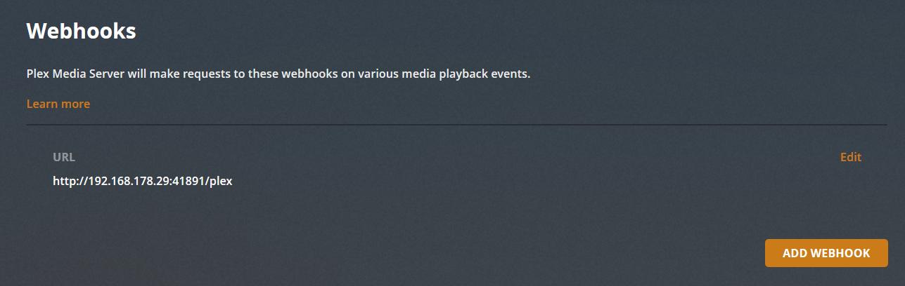 Plex Webhook