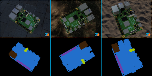 Example synthetic images from rpi sim.