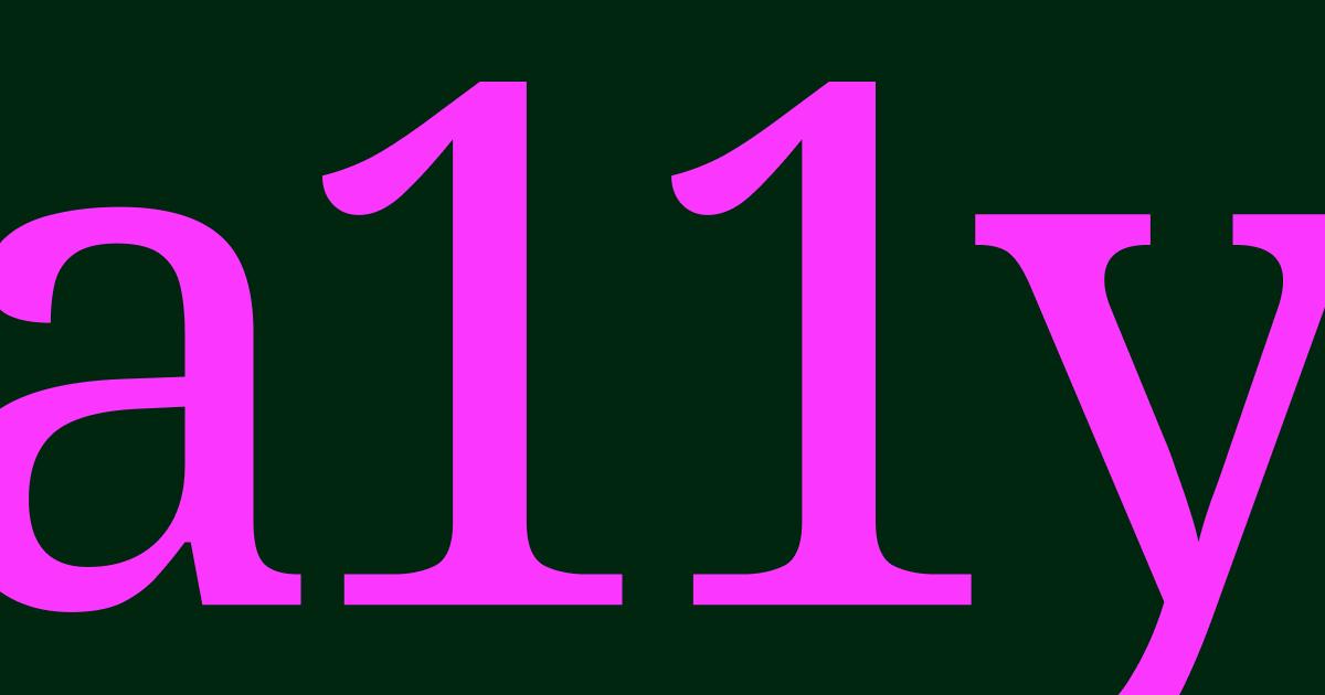 A11Y.
