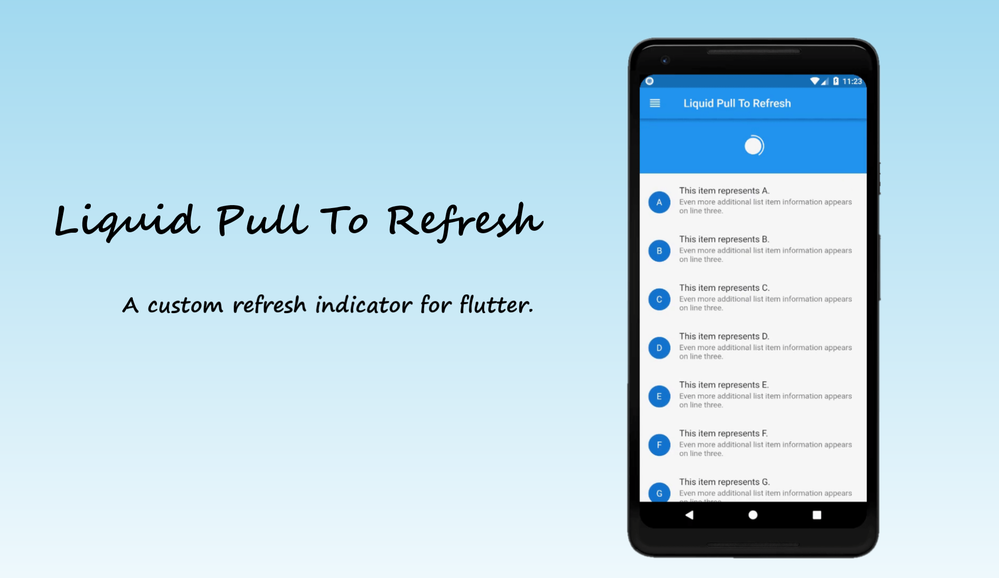 Flutter Liquid Refresh Indicator