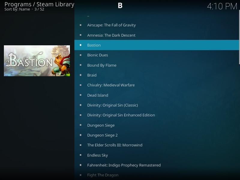 Yet *another* Kodi+Steam plugin